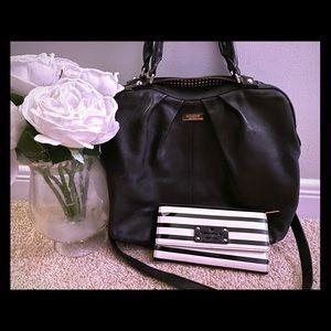 Kate spade black leather bag & wallet